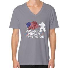 American Ninja Warrior V-Neck (on man) shirt