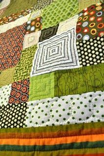 It's been a while since I made a quilt. This is inspiring me to make one again... soon. :)