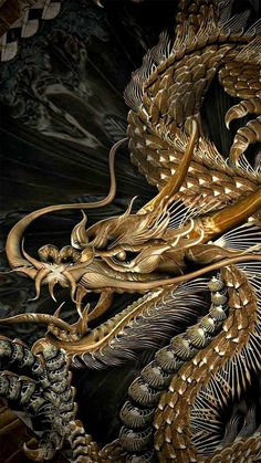 Explore amazing art and photography and share your own visual inspiration! Dragon Tattoo Art, Japanese Dragon Tattoos, Dragon Artwork, Dragon Tattoo Designs, Fantasy Dragon, Fantasy Art, Samourai Tattoo, Dragon Illustration, Japanese Artwork