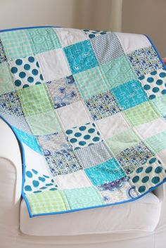 baby boy quilt by thestudentteacher
