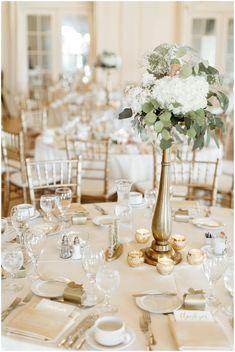 Timeless centerpiece ideas. White and greenery. MN Wedding Planner, MN Wedding Designer