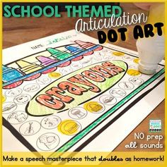 Make a speech masterpiece with Back to School Dot Art {all sounds and NO prep!} Click and find out how you can use it for language therapy, too!