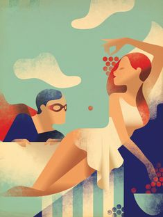 Elsevier Cover in Art Deco Posters by Mads Berg