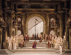 La Clemenza di Tito from the Metropolitan Opera New York. Production, sets and costumes by Jean-Pierre Ponnelle.