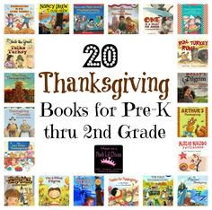 20 Thanksgiving Books for Kids in Pre-K through 2nd Grade from Mom to 2 Posh Lil Divas