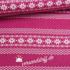 """Wer sagt, dass Norweger-Pullover kratzen? Der Bio Jacquard Jersey """"Norweger Bordüre"""" von Albstoffe, made in Germany, sorgt für den Norweger Look und das absolute Kuschel-Feeling dazu. Der Doubleface aus 100 Prozent Bio Baumwolle (kbA)..."""