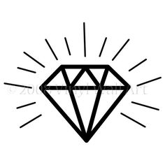 diamond tattoo outline - Google Search