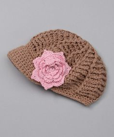 Take a look at this Brown Crochet Newsboy Hat by Marili Jean on #zulily today!
