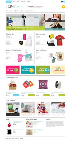 'Gift Store' #webdesign for #WooCommerce Template http://zign.nl/49593