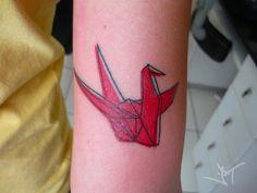 tsuru crane tattoo - desenho meu, executado pela Jana Sooz (: