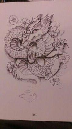35 New Ideas For Tattoo Dragon Sketch Beautiful Pretty Tattoos, Love Tattoos, Beautiful Tattoos, Body Art Tattoos, New Tattoos, Tattoo Drawings, Awesome Tattoos, Cute Dragon Tattoo, Dragon Tattoo For Women