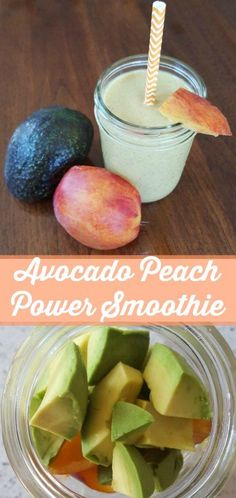 Avocado Peach Power Smoothie on Having Fun Saving and Cooking