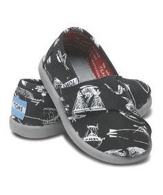 Take a look at this Black Flying Machine Canvas Classics - Tiny by TOMS on #zulily today!