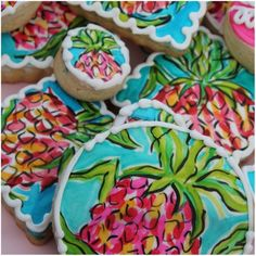 Lilly Pulitzer inspired cookies