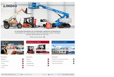 Industrial website for lifts and forklift.