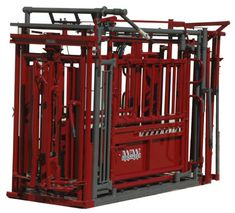 Manual Stampede Steel Cattle Chute by WW Manufacturing