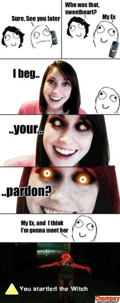 Overly Attached Girlfriend 4 Funny Images, Best Funny Pictures, Random Pictures, Troll, Overly Attached Girlfriend, Girlfriend Meme, Brunch, Picture Blog, Dead Memes