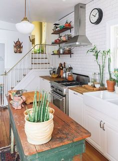 Rustic industrial kitchen / home tour