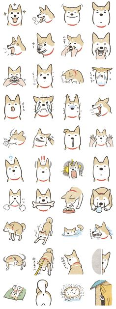 These are stamps which Shiba-Inu (Japanese traditional dog) feels glad, angry, and be smoothed her wrinkle, etc. You can use and enjoy dog-language at LINE!