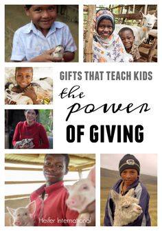gifts that teach kids the power of giving: animal gifts from heifer international - teach mama Teaching Kids, Kids Learning, Service Projects For Kids, Service Ideas, Best Birthday Gifts, Birthday Wishes, Birthday Ideas, Advice For New Moms, Cool Gifts For Kids