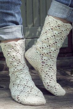 Nordic Yarns and Design since 1928 Double Crochet, Single Crochet, Crochet Slippers, Knit Crochet, Woolen Socks, Slipper Socks, Boot Cuffs, Crochet Accessories, Knitting Socks
