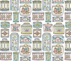 Tea Tins fabric by heatherdutton on Spoonflower - custom fabric