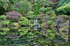 Heavenly Falls at Portland Japanese Garden - HDR | Flickr