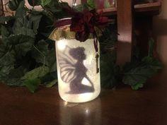 Fairy Night Liight, Fairy in a Jar by ADragonflyCreation on Etsy