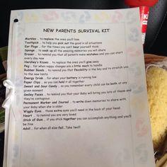 New Parents Survival Kit List