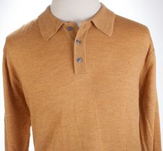 Jos A Bank Signature Collection Merino Wool Polo Sweater Pullover Jumper Mens XL #JosABank #Polo