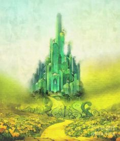 Beautiful picture of Ozma's Emerald City