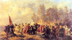 Artur Grottger – Modlitwa konfederatów barskich przed bitwą pod Lanckoroną