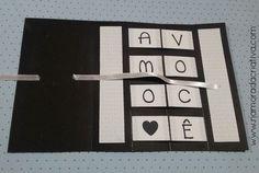 DIY - Cartão Amo Você - Namorada Criativa - 08 Valentines Diy, Origami, Diy And Crafts, Scrapbook, Love, Panda, Bb, Flowers, Birthday Cards For Boyfriend