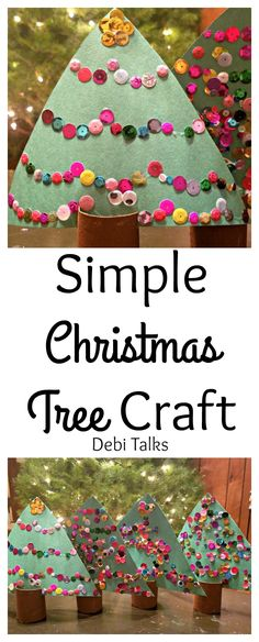 A quick and easy Christmas Tree craft that is perfect for kids of all ages. Recycle materials and use whatever you have on hand.