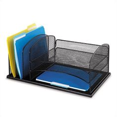 Safco Products Desk Organizer 3 Horizontal/3 Upright Sections