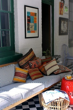 My breezeway on a sunny morning by midcenturyjo, via Flickr