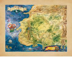 The Wheel of Time Map Poster - Click Image to Close