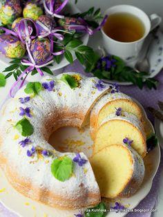 babka-cytrynowa-piaskowa Breakfast Menu, Pumpkin Cheesecake, Food Cakes, Doughnut, Cake Recipes, Good Food, Baking, Fruit, Holidays