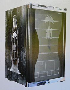 Afri Cola - Cooler Kühlschrank für Getränke im Retro Look - Husky HUS-HC 150 Flaschenkühlschrank / A+ / 83,5 cm Höhe / 109 kWh/Jahr / 130 L Kühlteil / 130 L Gefrierteil