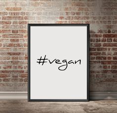 Vegan Motivational Poster vegetarian Printable by RAWVOLUTION