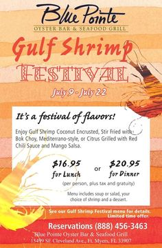 Shrimp Fest is Coming to Blue Point! https://www.facebook.com/events/489967881082474/