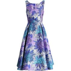 Chicwish All in Bloom Jacquard Prom Dress