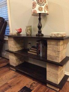 DIY Bookshelf Made from Pavers - Diy Furniture Beds Ideen Milk Crate Furniture, Wood Pallet Furniture, Diy Furniture, Cheap Home Decor, Diy Home Decor, Cinder Block Shelves, Brick Shelves, Cinder Block Furniture, Diy Tv Stand