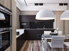 Neutral color themes are beloved for being straightforward and quite approachable. Neutrals are easy to coordinate, simple to adapt, and they pair with a nearly Interior Design Kitchen, Modern Interior, Interior Architecture, Kitchen Furniture, Cool Furniture, Kitchen Dinning, Dining Room, Ideas Hogar, Cuisines Design