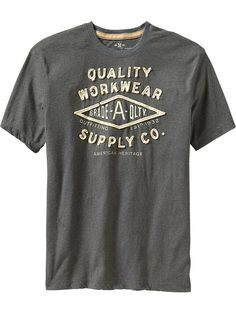 Put your style on full display with men's graphic tees from Old Navy. Vintage Tee Shirts, Mens Tee Shirts, T Shirt, Aeropostale, Cool Graphic Tees, Tee Shirt Designs, Textiles, Shirt Style, Appliques