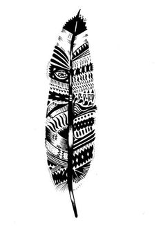 Tribal aztec Feather tattoo https://www.facebook.com/bohemiangypsy2