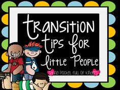 Transition Time.... It's like Hammer Time for the Classroom - Pocketful of Littles
