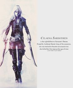 Celaena Sardothien~ Assasin: Beautiful, Deadly, Powerful TOG Throne of Glass by Sarah J Maas
