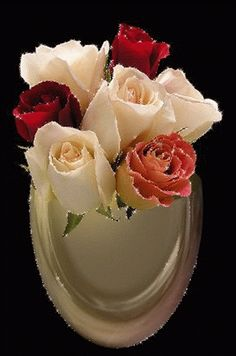 bandeja rosas gif Rosas Gif, Heart Gif, Flowers Gif, I Love You Forever, Beautiful Flowers, Ethnic Recipes, Wallpapers, Mavis, Garden