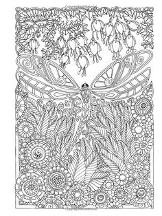 Creative Haven Entangled Dragonflies Coloring Book (Adult Coloring): Dr. Free Adult Coloring, Adult Coloring Book Pages, Animal Coloring Pages, Printable Coloring Pages, Coloring Pages For Kids, Coloring Sheets, Coloring Books, Colouring Techniques, Christmas Cards To Make
